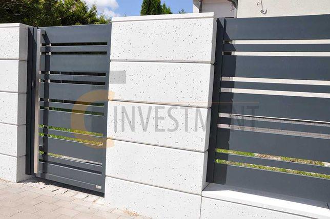 Bloczki betonowe na ogrodzenie 40x25x40 Bloczek beton architektoniczny