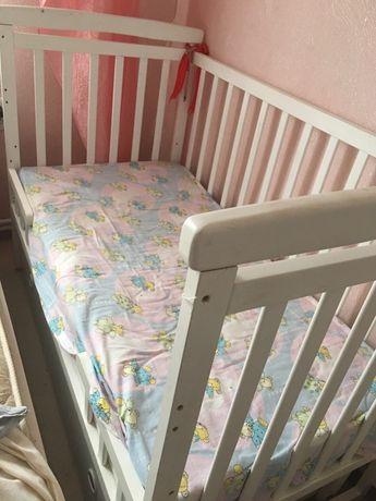 Продам дитяче ліжечко + матрас