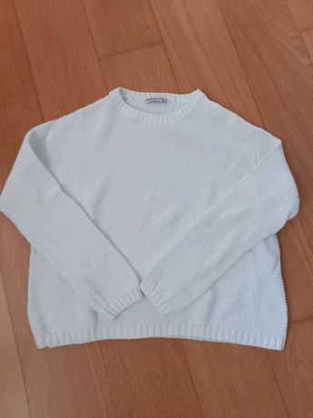 Camisola branca efeito favos