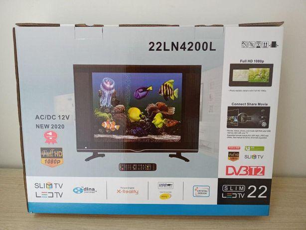 Телевизор жидкокристалический 22 дюйма Нолого dvb t2 встроенный