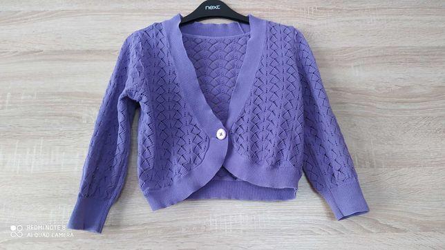 Fioletowy sweterek dziewczęcy