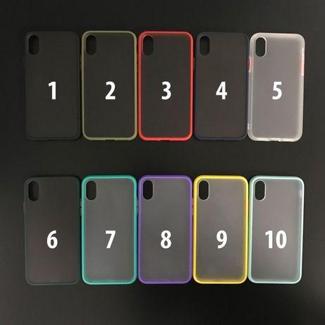 Чехол противоударный матовый на iPhone 6 6s 7 8+ plus X Xr 11 pro Max