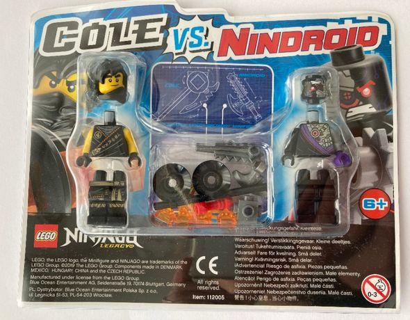 Lego NINJAGO 2 figurki COLE vs NINDROID – oryginalne