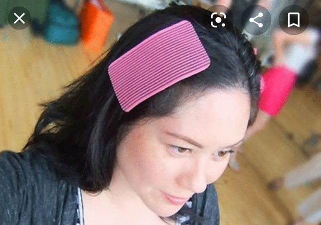 Velcro para segurar o cabelo