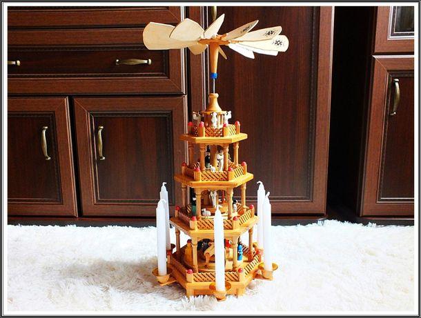 DUŻA szopka na Boże Narodzenie drewniana Karuzela Retro!