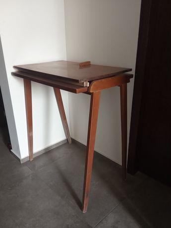 Stolik pod radio tv prl patyczak retro vintage do renowacji loft