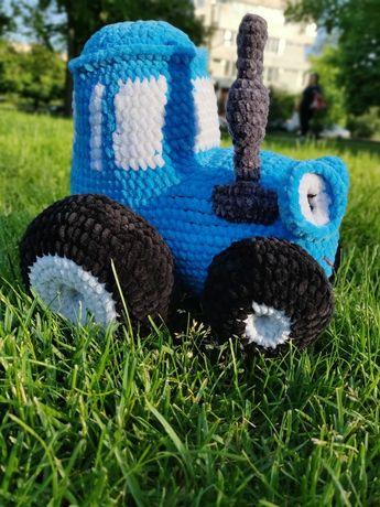 Синий трактор, игрушка амигуруми