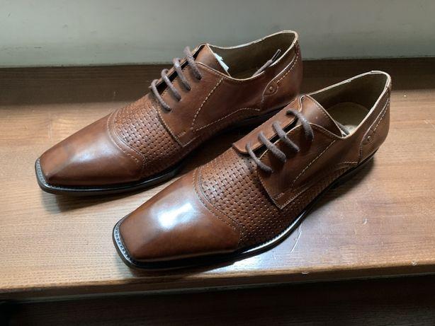 """Buty skorzane recznie robione skora wloska b""""anca"""