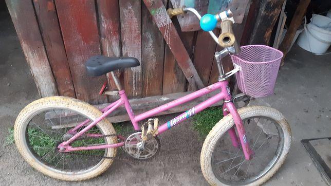 Rower dziecięcy różowy