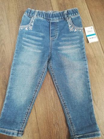 Nowe spodnie jeans rozm 92 98