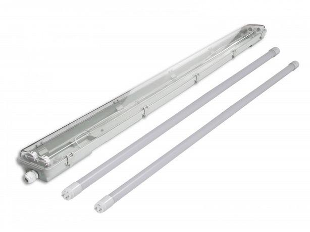 Oprawa przemysłowa IP65 na 2 świetlówki piwnica poddasze wodoodporna