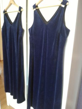 Agenda r.26 vintage welurowa cudna wieczorowa sukienka klamry cyrkonie