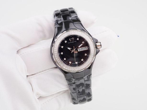 Женские новые часы TechnoMarine Cruise Black Ceramic Diamonds 36 мм