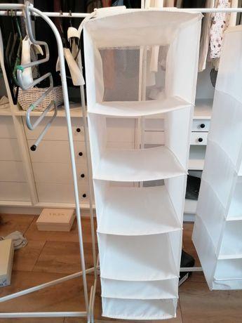 Ikea Skubb wisząca półka organizer na ubrania biały