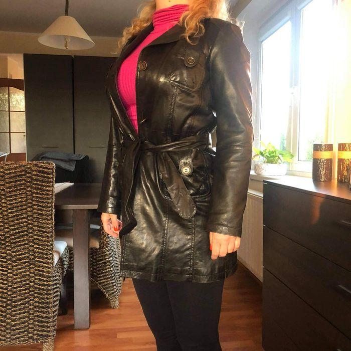 Płaszcz, kurtka czarna skóra Jelcz-Laskowice - image 1