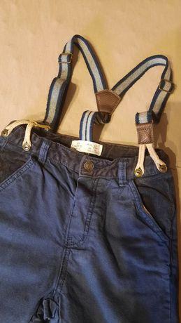Spodnie Zara z szelkami r.98