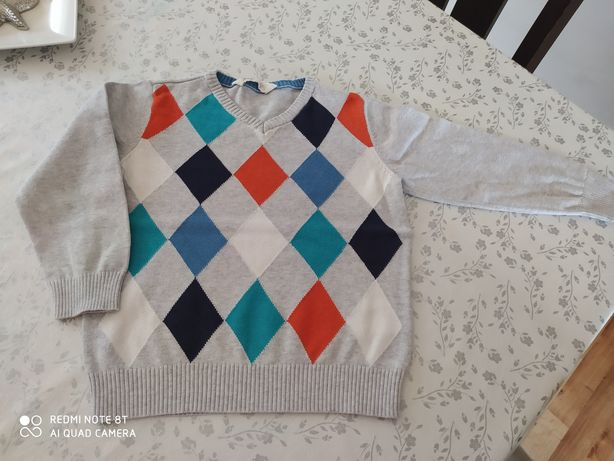 Sweterek H&M 98/104 cm, stan bardzo dobry