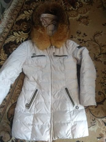 Пуховик, куртка, пальто, мех натуральный S-M