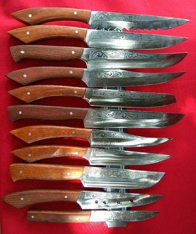 Ножи кухонные из нержавеющей стали 40х13, ручка дуб
