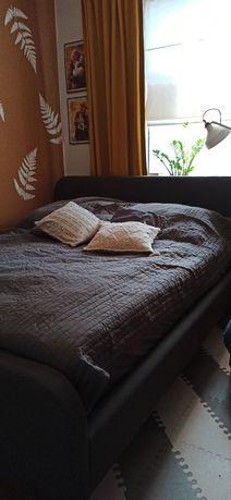 Łóżko KONGSBERG 160x200 szary szare tapicerowane JYSK+ stelaż