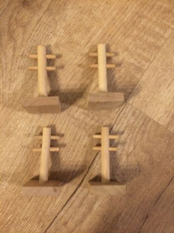 Tory drewniane - dodatek drewniane słupy telefoniczne, 4 szt