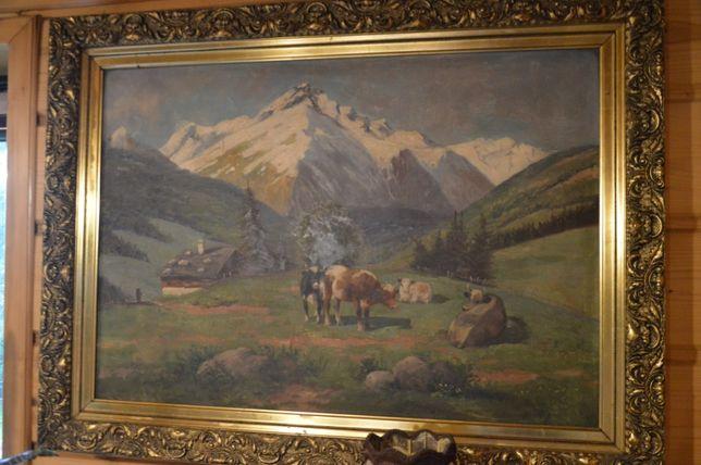 obraz - scena rodzajowa / Alpy
