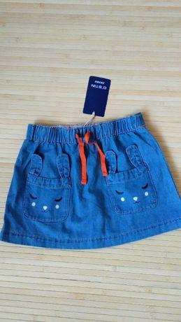 Юбка Ostin джинсовая кармашки зайки 116-122 или 5-7 лет