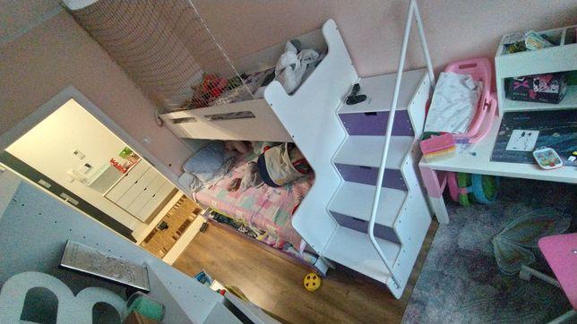 Łóżko piętrowe Max 3, schodki, odbiór osobisty.
