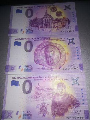 Zestaw 3 sztuk 0 euro Polska