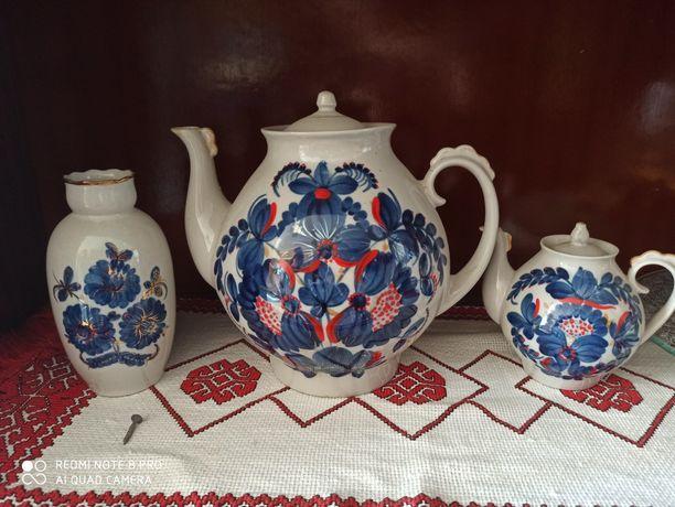 Фарфоровый чайник заварник ваза