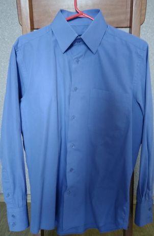 Рубашка мужская, синяя, размер М