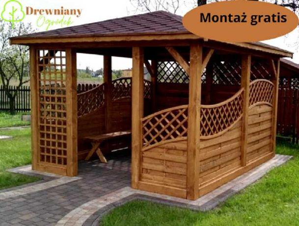Altana Ogrodowa, Altanka Drewniana z Montażem, Domek Drewniany