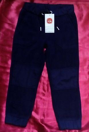 COOL CLUB Ciepłe spodnie dresowe polarowe 116