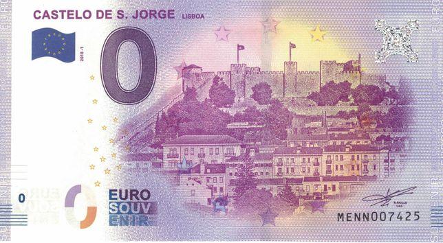 Nota zero euros (0€) Portugal Castelo de S. Jorge (MENN) 2018-1