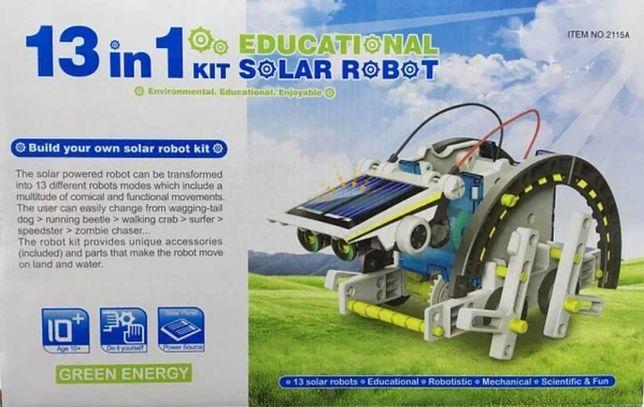 Конструктор робот на солнечных батареях Solar Robot 13 в 1