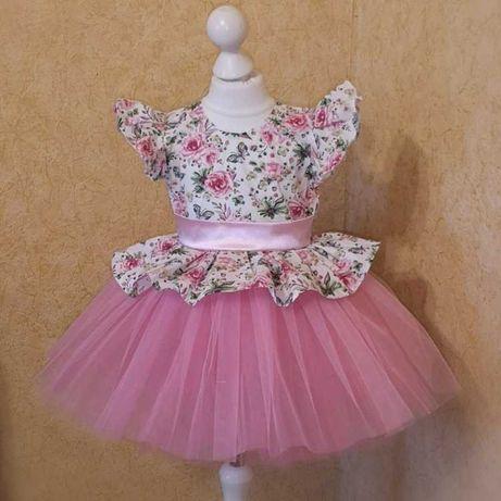 Нарядное детское платье. Пышное платье на утренник. Бальное платье