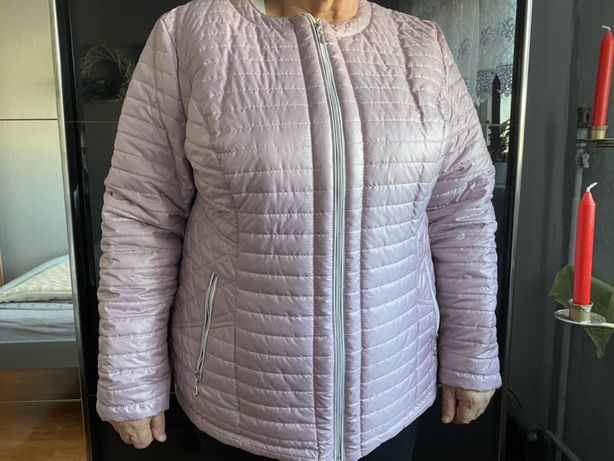 Rózowa kurtka pikowana r 50