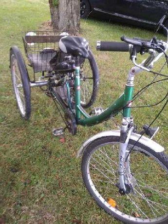 Rower z silnikiem 3 kołowy