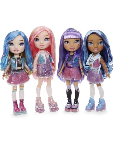 Большая кукла Poopsie rainbow surprise голубая фиолетовая