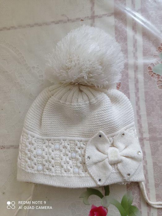 Зимова шапка на дівчинку 1-1.5 років Козятин - зображення 1