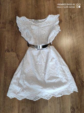 Sukienka boho biała