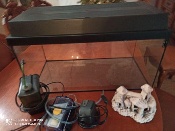 Akwarium 54l z pełnym wyposażeniem Juwel,filtry, brzęczek, zamek grzal