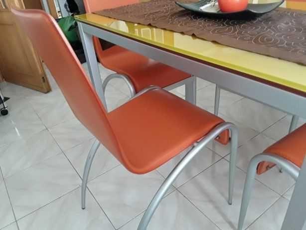 4 Cadeiras pele sintética