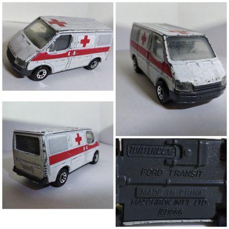 ford transit ambulans 1986 matchboxs