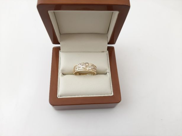 Piękny Złoty pierścionek pr.585 NOWY - UNIKAT !!!