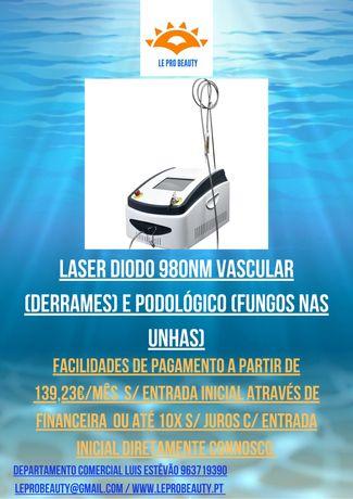 Laser Diodo 980nm 60W podológico (fungos) e Vascular (derrames) +Curso
