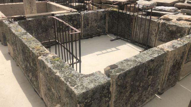 escada Pia tanque lagar colunas fonte pedra granito com pro
