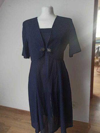 Letnia sukienka na ramiączkach z bolerkiem r. 42, XL