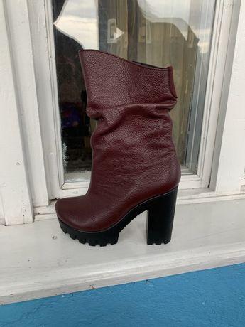 Зимові Шкіряні Жіночі черевички 36р.