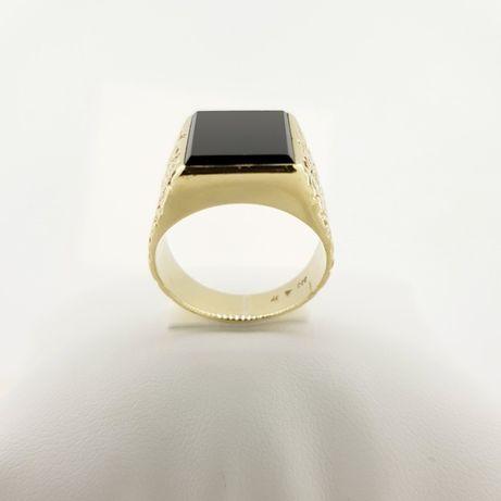 Złoty pierścionek sygnet p.333 r.22